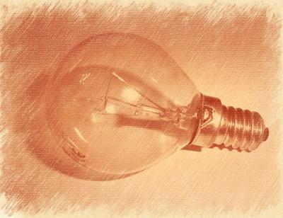 Glühbirne gezeichnet